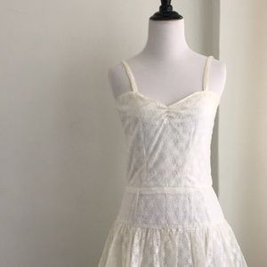 VTG retro simple wedding gown lace layer strap